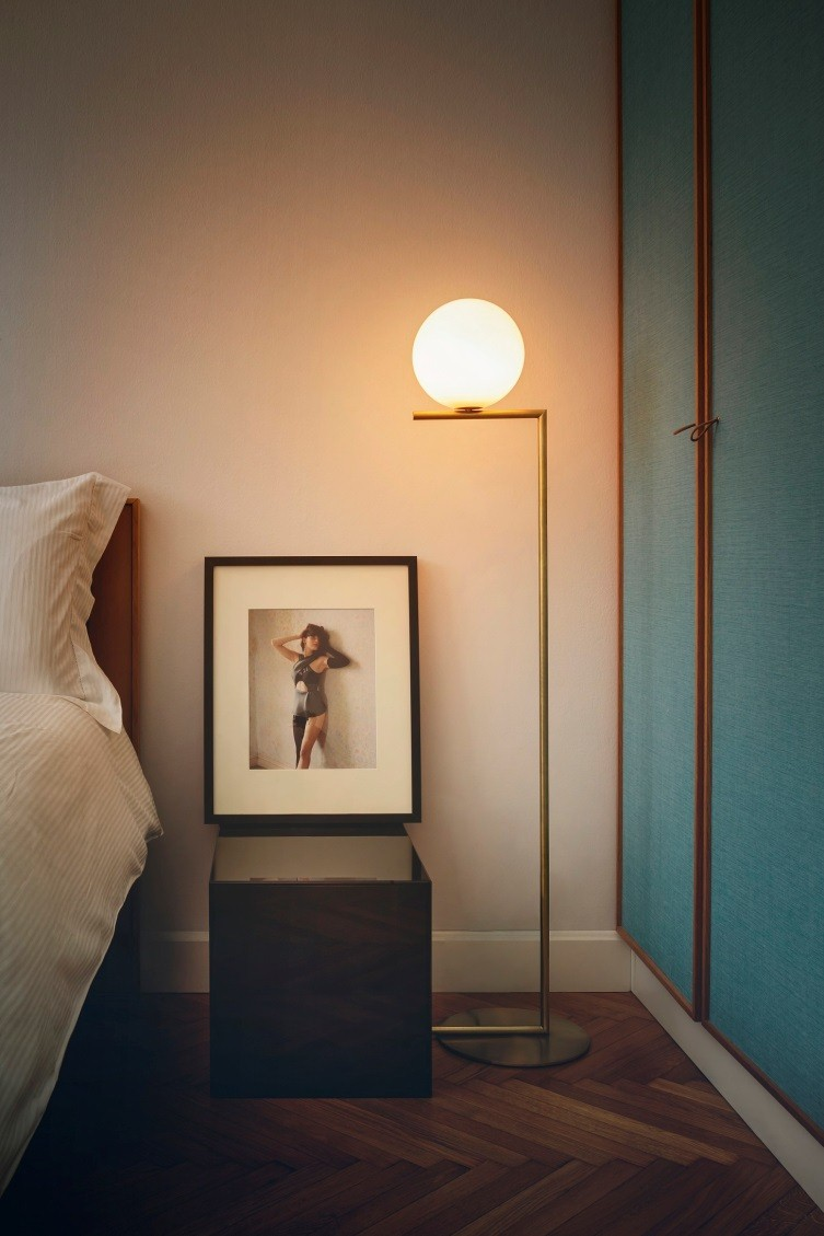 intimate bedroom lighting. Delicate Beauty Makes A Big Impact In The Form Of IC Light Floor Lamp By Michael Anastassiades. Streamlined And Poetic Can Be Emphasized As Intimate Bedroom Lighting FLOS™ USA