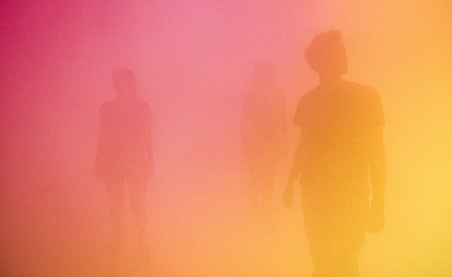 YellowBluePink installations by Ann Veronica Janssens