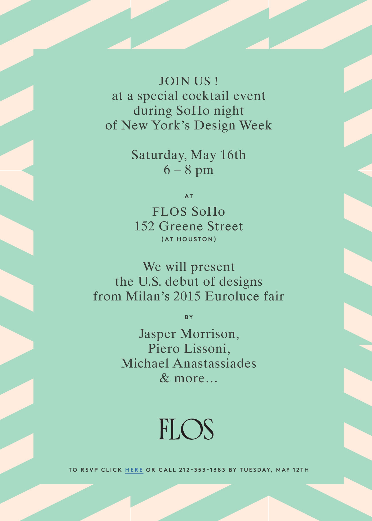 flos lighting nyc. Save The Date: May 16th, FLOS Debuts New Lighting Design In U.S. During ICFF + York Week Flos Nyc Y