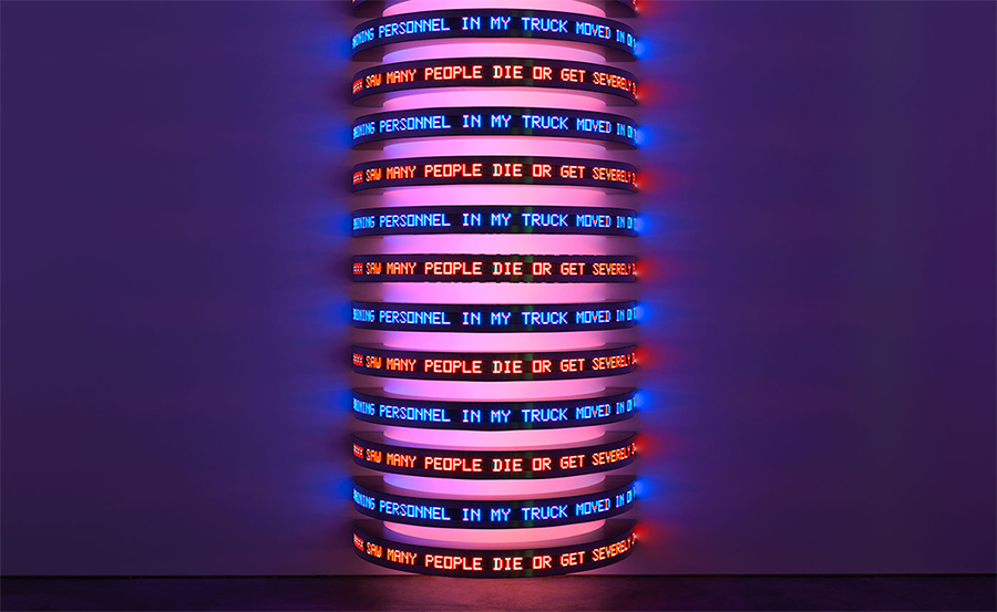 Jenny Holzer's Lighting Projections