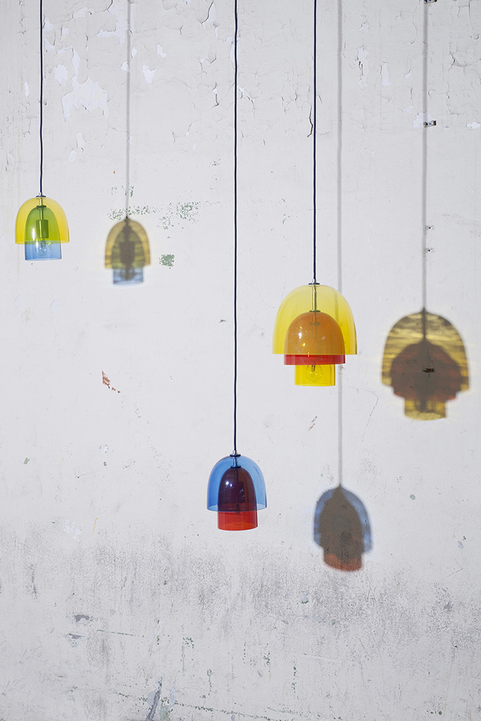Springboard Multi-tiered Pendant Lamps by Simone Post