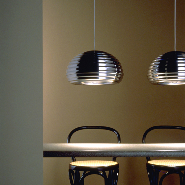 Castiglioni originally designed this light and a beer glass for a beer house by the same name in milan the beer house is no longer in existence