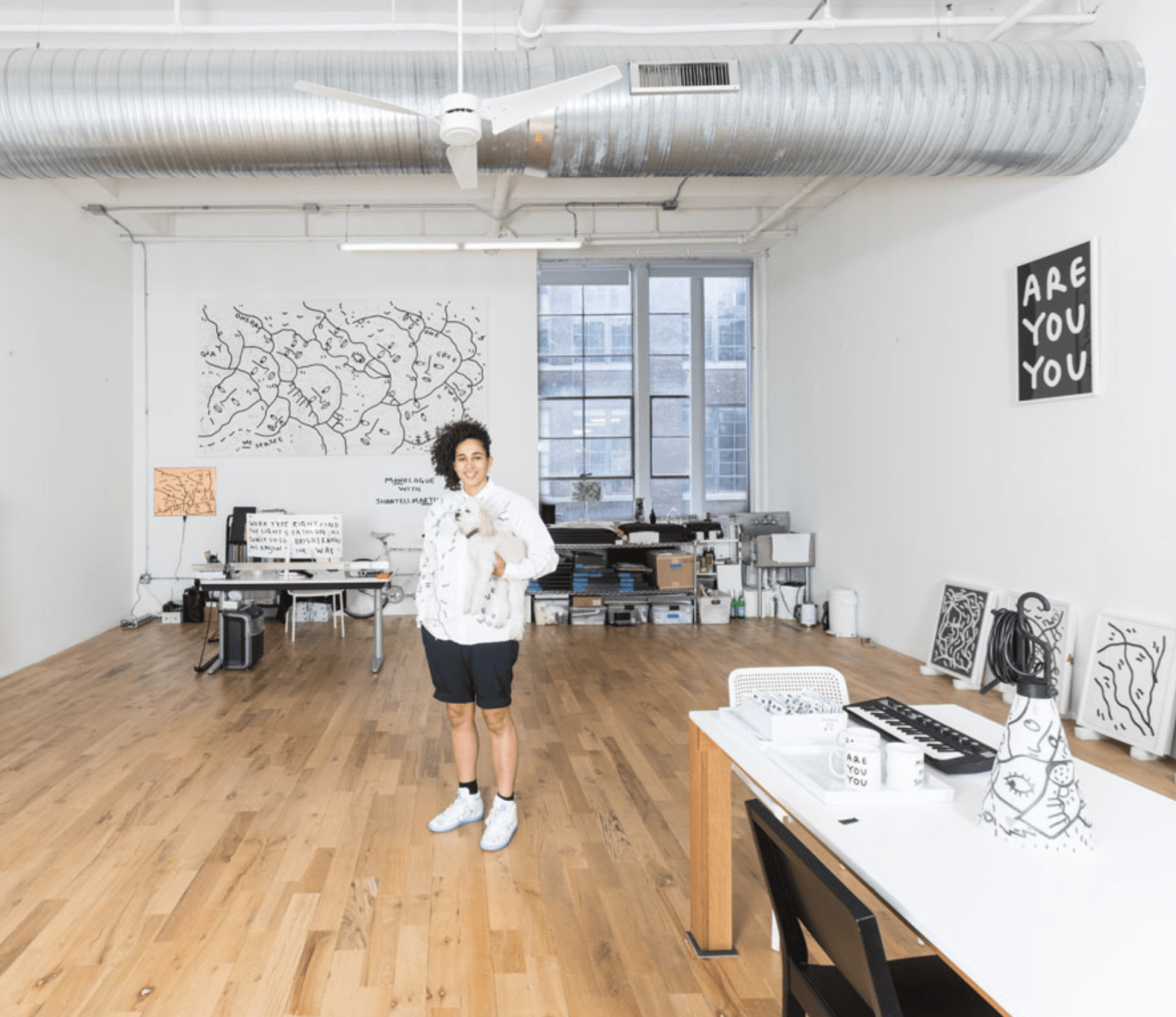 Shantell Martin with May Day Table Lamp