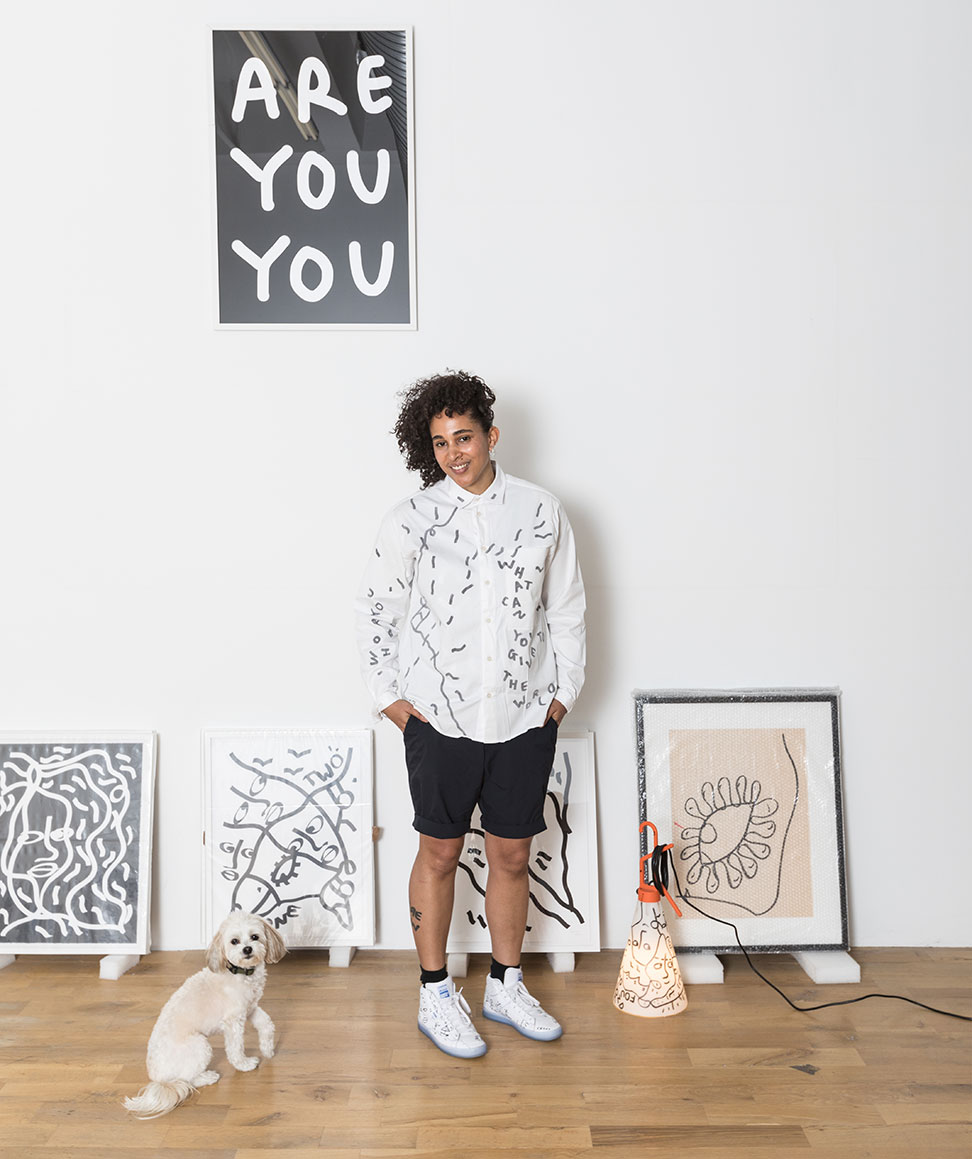 Collaboration with Shantell Martin and May Day Table Lamp